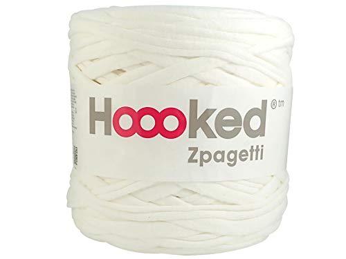 Hoooked Zpagetti T-Shirt-Garn, Baumwolle, 120m, 700g, weiß