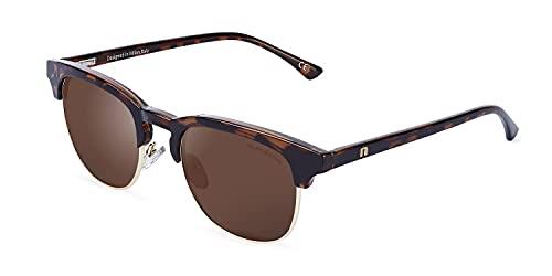 CLANDESTINE Highbrow Gold Habana Brown - Gafas de Sol de Nylon HD para Hombre & Mujer