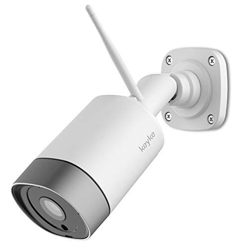 Cámaras de Vigilancia WiFi Exterior, FHD 1080P Cámara Seguridad Compatible Alexa, Impermeable IP66, Ethernet y WiFi con Versión Nocturna Audio Bidireccional Detección de Humano Movimiento