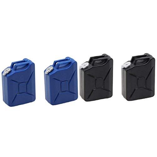 YNSHOU Accesorios de Juguete Decoración de Metal Compresor de Aire Bomba de inflado Bomba de Aire a con 2 Piezas Simulación Herramientas de decoración del Tanque de Combustible Azul