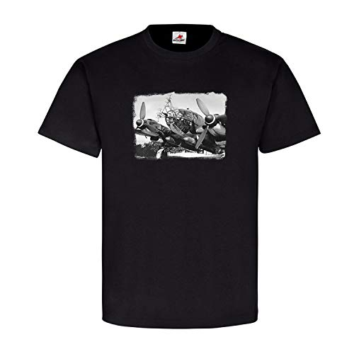 Militär Flugzeug Aufklärung Radar Antennen Landebahn Luftwaffe Armee Staffel Geschwader Landung Foto Bild T Shirt #20948, Größe:5XL, Farbe:Schwarz