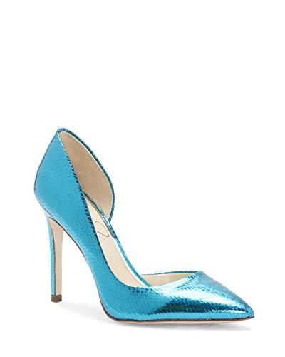 Jessica Simpson Damen Pheona, Blaue metallische Schlange, 36.5 EU