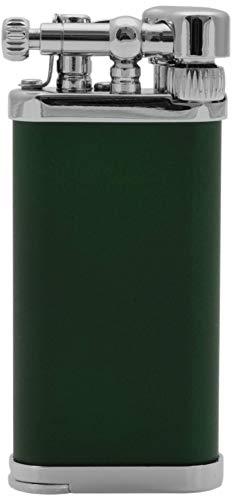 IM Corona Pfeifen dunkelgrün Feuerzeug der Old Boy Klassiker Made in Japan schräge Flamme