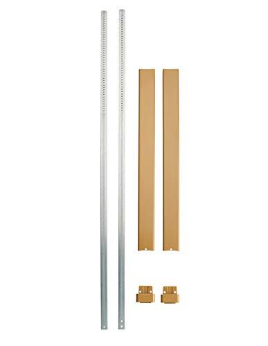 Thirard - Set gordijnroede, vlak, brons, voor deurhoogte 3,00 m