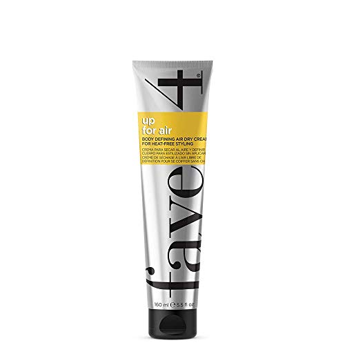 fave4 hair Up for Air Styling Cream, Air Dry Cream for Heat Free Styling & Smoothing, 5.5 fl oz