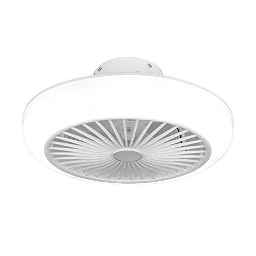 Noaton 11045W Polaris, Blanco, Ventilador de techo con luz, Mando a distancia, Atenuación LED, 3 temperaturas de color ajustables, Temporizador, Flujo de aire hasta 40 m3/min, Ø45cm