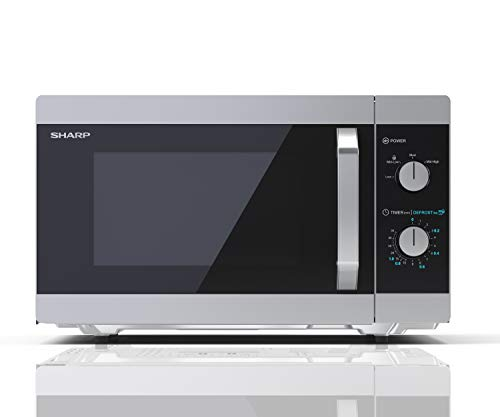 314qh2LqvEL - Sharp YC-MS31U-S 900W Solo Microwave Oven with 23 L Capacity, 5 Power Levels & Defrost Function – Silver