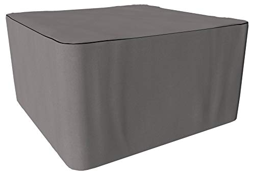 SORARA Housse de Protection Hydrofuge pour Table Carrée | Gris | 170 x 170 x 90 cm