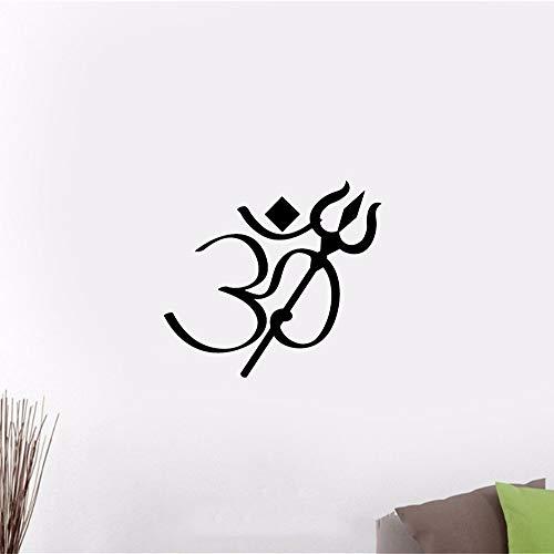 wandaufkleber 3d Wandtattoo Schlafzimmer Om Symbol Trishula Hinduismus Hindu
