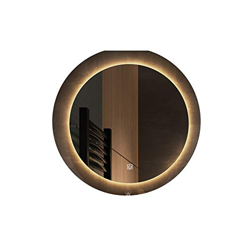 Bathroom mirror Espejo de baño Redondo con lámpara Espejo de luz led Espejo de baño Espejo Inteligente Espejo de tocador con Pantalla táctil