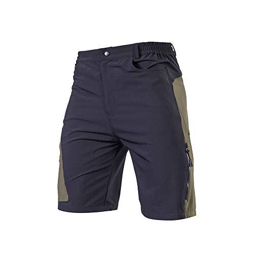 Irfora Pantalones cortos de ciclismo para hombre, pantalones cortos de ciclismo para hombre, pantalones cortos de ciclismo transpirables para deportes exteriores