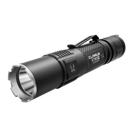 KLARUS XT2CR+ linterna táctica recargable súper brillante 1600 lúmenes, linterna IPX8 CREE XHP35 HD E4 LED para acampar al aire libre, con batería 18650 y funda