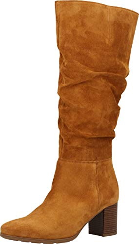 Gabor Damen Stiefel, Frauen Elegante Stiefel,Comfort-Mehrweite, Boots lederstiefel langschaftstiefel reißverschluss,Camel (Micro),42 EU / 8 UK