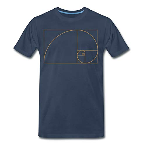 Goldener Schnitt - Fibonacci Spirale - Phi - Folge T-Shirts Männer Premium T-Shirt, XL, Navy