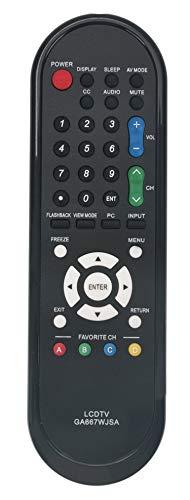 New GA667WJSA RRMCGA667WJSA Replaced Remote Fit for Sharp TV LC-32D44 LC-32D44U LC-32D47 LC-32D47U LC-32D47UA LC-32D47UN LC-32D47UT LC-32D49 LC-32D49U LC-32M44 LC-32M44l LC-32SB21 LC- 32SB21U