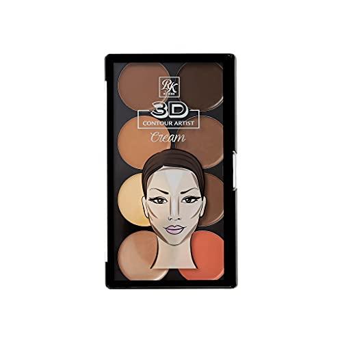 Ruby Kisses 3D Contour Artist Cream Makeup Palette Medium Dark RPCC02