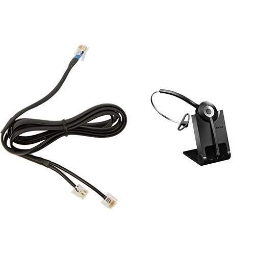 Jabra 14201-10 GN9300 DHSG Gord & Pro 920 Mono nutzerfreundliches Office Headset kabellos DECT für Festnetztelefone, bis zu 120m Reichweite, Geräuschunterdrückung, HD-Voice, Ladeschale inkl., schwarz