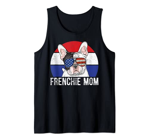 Patriotic French Bulldog Frenchie American Flag 4th of July Tank Top