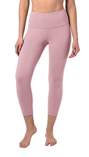 90 Degree By Reflex - High Waist Tummy Control Shapewear - Power Flex Capri - Shadow Petal - Medium