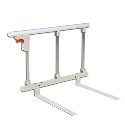 Bed Rail, Elderly Adults Anti Fall Grab Bar Bed Hand Rails, Safety Protection Anti-Fall Bed Guardrail for Old man child Handicapped GUORRUI (Color : Silver, Size : 70x40cm)