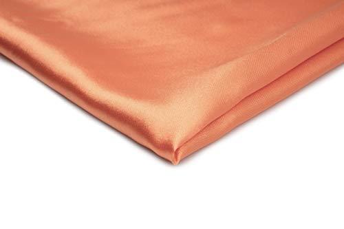 satiné Acetex Couture – Disponibles dans une variété de couleurs 50 x 150 cm, Mandarin Nr 10, 50 x 150 cm