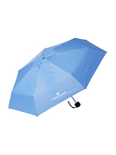 TOM TAILOR Unisex Umbrellas extra kleiner Regenschirm sicilian blue,OneSize