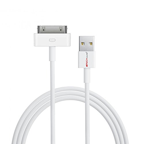 TECHGEAR EXTRA LONG 3 Meter / 10 Feet USB Data Sync & Charging Cable Lead Compatible for Apple iPad, iPad 2 & iPad 3 (White)