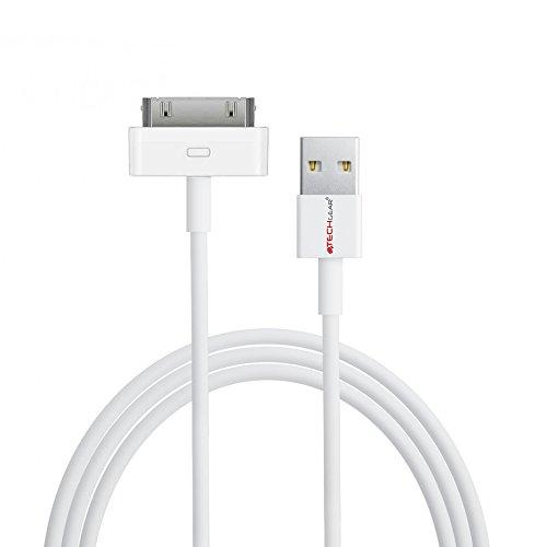 Techgear Extra lang 3 meter USB-oplaad- en datasynchronisatiekabel voor iPad, iPad 2 & iPad 3, wit