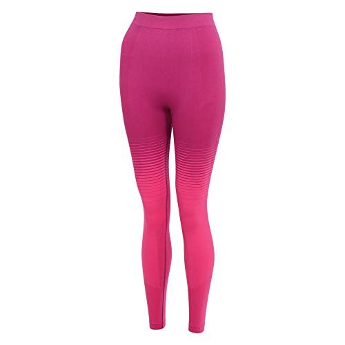 Regatta Damen In The Zone Perfomance Fast Wicking Quick Drying Anti-Bacterial Odour Controlling Base Layer Set with Seamless Technology and Ergonomic Body Map Fit Baselayer, Cyber Pink, M