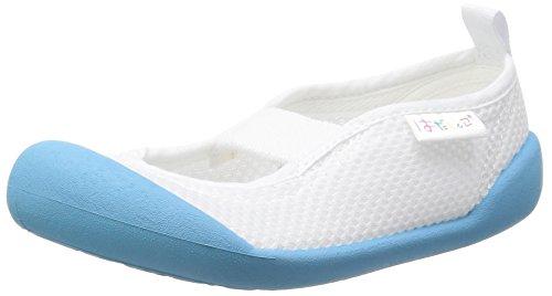 [ムーンスター] 上履き 日本製 14~21cm 0.5cm有 キッズ はだしっこ01 サックス 14.5 cm 2E