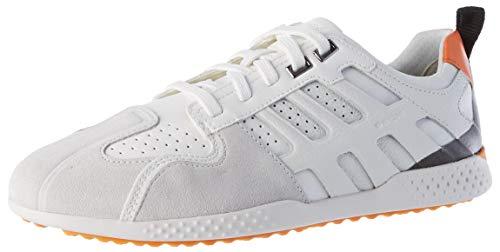 Geox Mens U Snake.2 B Sneaker, White/Off White,42 EU