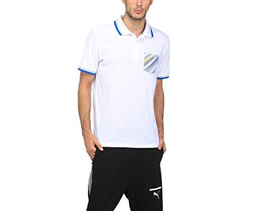 Puma Golf Herren Pixel Taschen Drycell Polo-Hemd - Bright Weiß - S