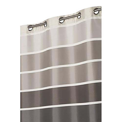 Rideau Opaque 140 x 250 cm à Rayures Multicolores Beige