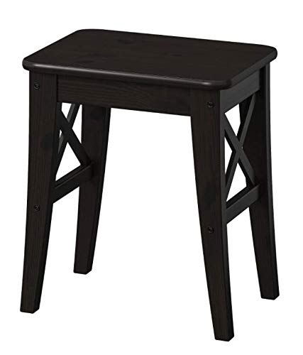 Ikea INGOLF - Taburete, marrón-Negro
