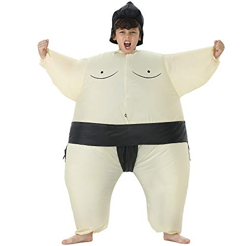 TOLOCO Inflatable Sumo Rider Costume | Inflatable Costumes for Adults Or Kids | Halloween Costume | Blow Up Costume (Sumo)