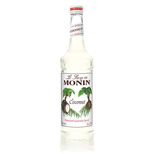 Monin - Coconut Syrup, Sweet and Rich, Great for Cocktails and Smoothies, Gluten-Free, Non-GMO (750 ml)