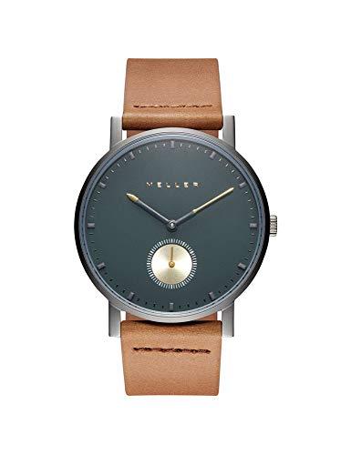 Meller Unisex Erwachsene Analog Quarz Uhr mit Leder Armband 2G-1CAMEL