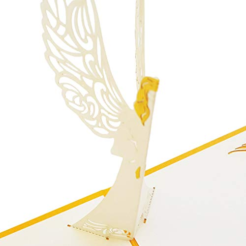 Dekali Designs Guardian Angel Pop up Card | 3D Angel Card for Christmas, Easter, Get Well Soon Card, Funeral, Bereavement, Memorial, Get Well Soon Card | Comes With Angel Blessing Inspirational Quote Photo #2