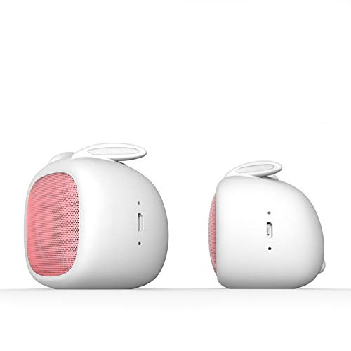 chaonong Lautsprecher Musik-Player-Lautsprecher Bluetooth-Lautsprecher Karten-Minilautsprecher schöne Form Funk-Außenlautsprecher (Color : White)