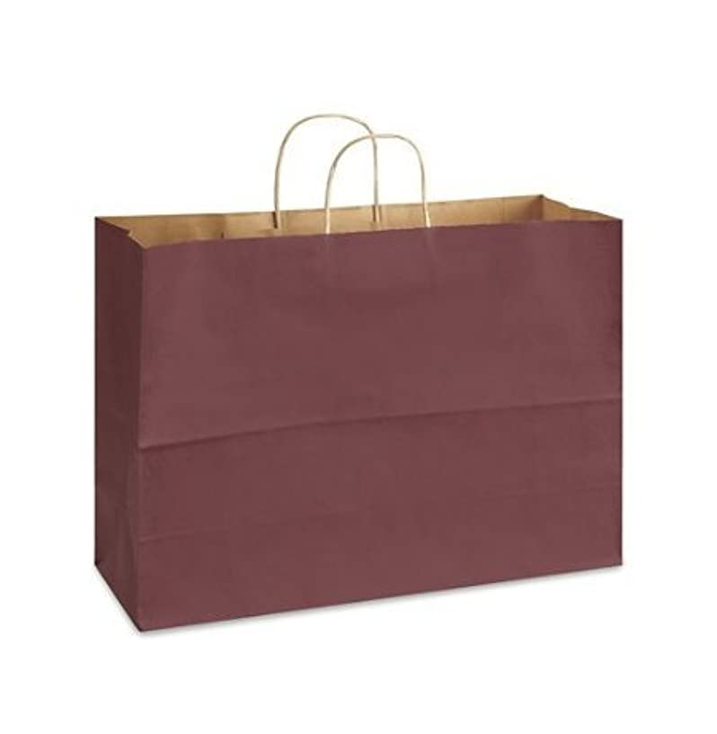 Maroon Bags, Extra Large Kraft Paper Gift Wrap Shopping Bags, (Vogue Size 16W x 12H x 6), 25 Bags, Made in USA