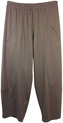 Vexcon Dames plussize Broek met Zakken en Elastische Tailleband in Comfort Cut