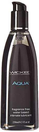 Wicked Lubes Sensual Care Collection Aqua Waterbased Lubricant, Fragrance Free, 8.5 Ounce