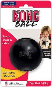 KONG Extreme Ball Hundespielzeug, Medium/Groß, 2x schwarz