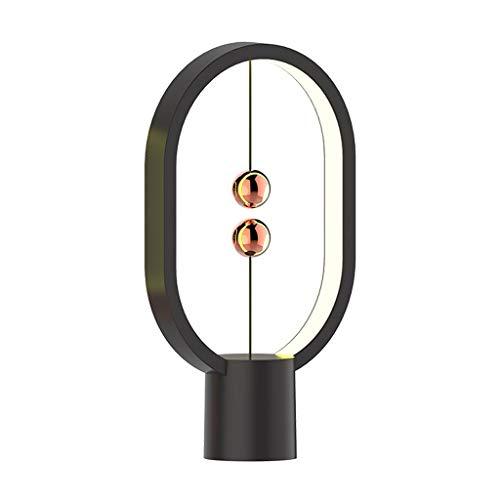 DYXYH SQDDM Mini Interruptor de elipse Alimentado por USB, Equilibrio de luz Nocturna, lámpara de Mesa LED, decoración del hogar de Oficina (Color : Black)