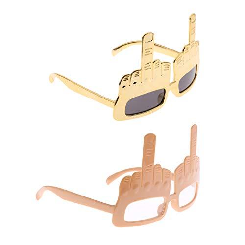 Harilla Lotes de 2 Gafas de Sol de Broma para El Dedo Medio
