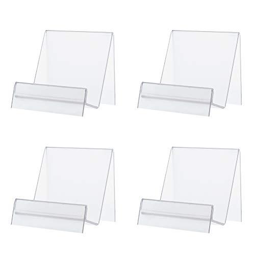 PandaHall Paquete de 6 soportes de acrílico para libros con caballete de libro para fotos de folleto para teléfono móvil, soporte para obras de arte, soporte organizador (3 x 2.7 x 2.3 pulgadas)