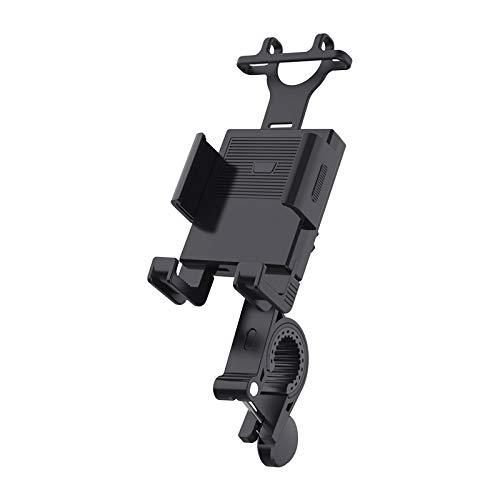 Soporte Movil Bicicleta, Soporte Motocicleta - Soporte Movil Bicicleta Soporte Universal Manillar Motocicleta para Smartphones con Rotación 360° (Negro)