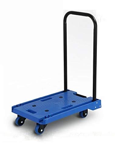 折り畳み台車 HL-150 台車 耐荷重150kg【手押し台車】【平台車】【折りたたみ】【業務用台車】【軽量静音】【コンパクト】【業務用】【ハンドトラック】【軽量台車】【フラット収納】 (青(BLUE))