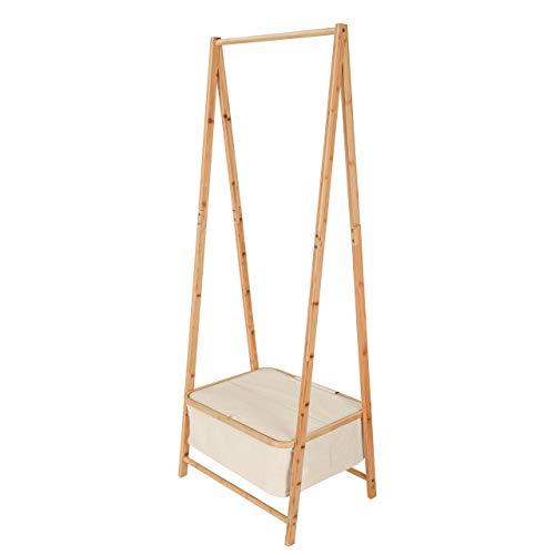 Lumaland Perchero de Pie Burro de Bambú - Mueble Recibidor de Madera con...