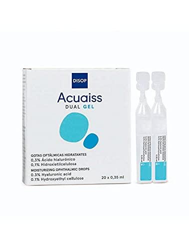 Acuaiss Dual Gel - Lágrima Artificial de Gel con Ácido Hialurónico contra la Sequedad Ocular Moderada y Severa. Monodosis 20 x 0,35 ml